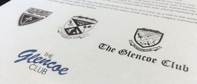 The Glencoe Club's old crests