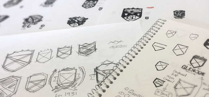 Everbrave sketches of new Glencoe logo